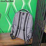Большой серый рюкзак для парикмахерских инструментов (инструменты не входят в комплект) 49х34х11 см, фото 5