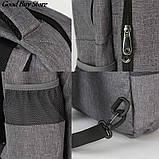 Большой серый рюкзак для парикмахерских инструментов (инструменты не входят в комплект) 49х34х11 см, фото 6