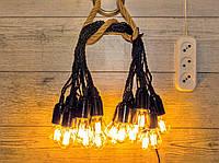 Гирлянда уличная 30 метрів 61 лампа RETRO LAMPA Filament 4W жовте свiтло IP44 від 220V (300543441)