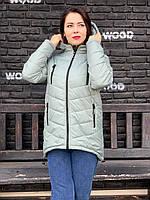 Жіночий пуховик куртка, колір шавлії арт. 300, фото 1