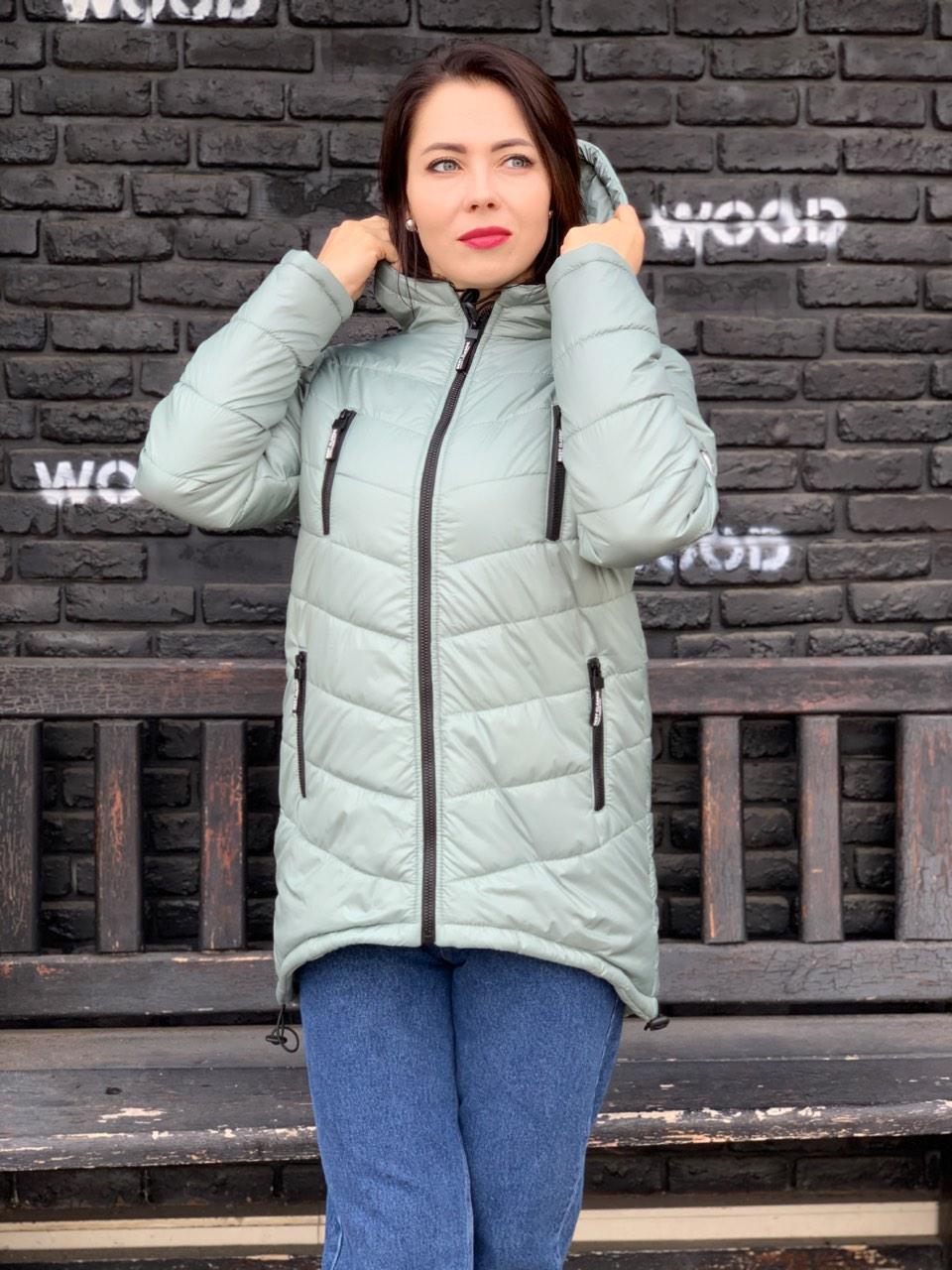 Жіночий пуховик куртка, колір шавлії арт. 300