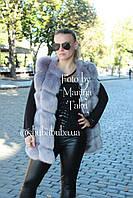Женская жилетка безрукавка Эко Мех 76 см на войлочной подкладке