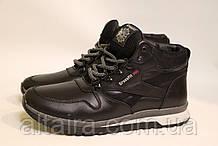 Черные кожаные зимние кроссовки. Размеры 40, 41, 45.