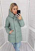 Куртка женская теплая арт. 1005 шалфей