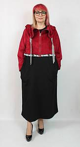 Турецкое женское платье с капюшоном больших размеров 52-62