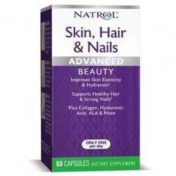 Волосы, кожа, ногти Natrol Hair Skin & Nails w/ Lutein - 60 капс