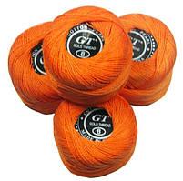 Нитки ирис темно оранжевый № 109