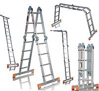 Шарнирная алюминиевая лестница Aloft 4х4, фото 1