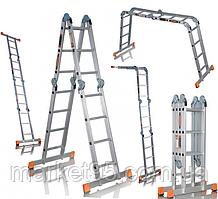 Шарнирная алюминиевая лестница Aloft 4х4
