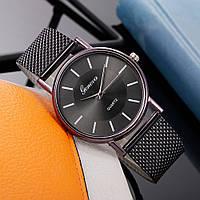 Жіночі наручні годинники Geneva quartz чорного кольору