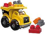 Грузовик Мега Блокс Mega Bloks Cat Lil´ Dump Truck Строительная техника Catepillar, фото 2