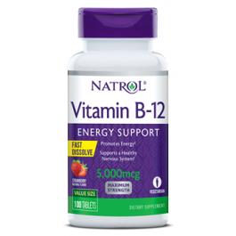 Витамин Б-12 Natrol Vitamin B-12 5000mcg F/D Straw - 100 таб