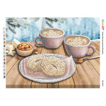"""Схема для вишивки бісером """"Кава з печивом"""" БР-3313"""