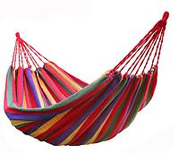Гамак мексиканский подвесной без планки оранжевый 190х80 см