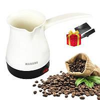 Электрическая кофеварка-турка 500 мл Marado MA-1626 / Электротурка для дома + нож кредитка