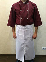 Фартук для повара, бармена, официанта белый коттон, фартук поварской