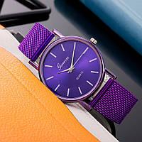 Жіночі наручні годинники Geneva quartz фіолетового кольору