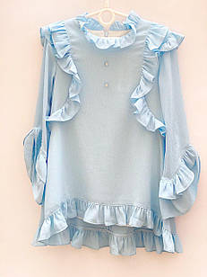 Нарядная блуза для девочки, размеры 6, 7, 8, 13 лет