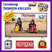 Телевизор Thomson 43UC6326. 4K. Smart TV. Android. LCD-телевизор томсон