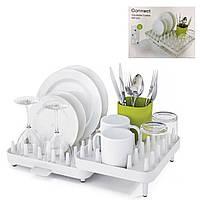 Регулируемая сушилка для посуды Joseph Joseph Connect / Сушки и органайзеры для посуды
