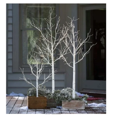 "Новогоднее декоративное дерево-гирлянда ""Береза"" 160 см 96 Led IP 44 TR-009WW(ТЕПЛЫЙ БЕЛЫЙ)"