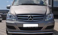 Защита передняя (усы) для Mersedes Vito/ Viano W639 (Мерседес Вито 639), нерж