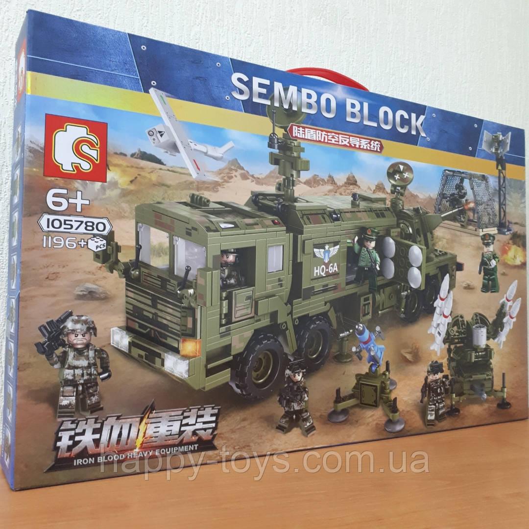 Конструктор Система ПВО 1196 деталей Sembo Block 105780