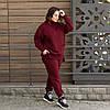 Теплий в'язаний БАТАЛЬНИЙ костюм оверсайз Оливковий з 42 по 62 розмір, фото 3
