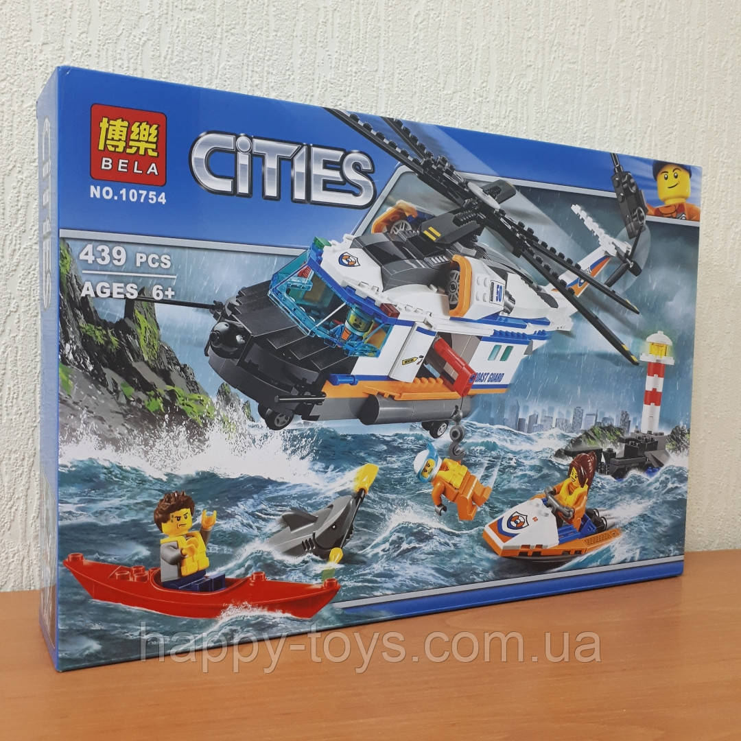 Конструктор Bela Cities 10754 Сверхмощный спасательный вертолет 439 деталей