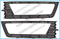 Левая решетка в бампере  (с отв  п/тум ) SKODA OCTAVIA A7  (2013 -)