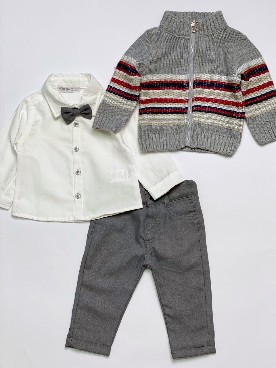 Костюм для мальчика из трех предметов, размер 9 месяцев