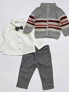 Костюм для хлопчика з трьох предметів, розмір 9 місяців
