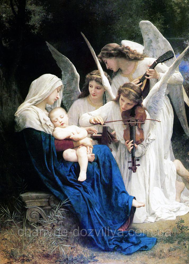 """Набор алмазной вышивки (мозаики) """"Песня ангелов"""". Художник William-Adolphe Bouguereau"""