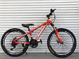 Спортивный горный подростковый велосипед TopRider 285 24 дюйма колеса Салатовый, фото 3