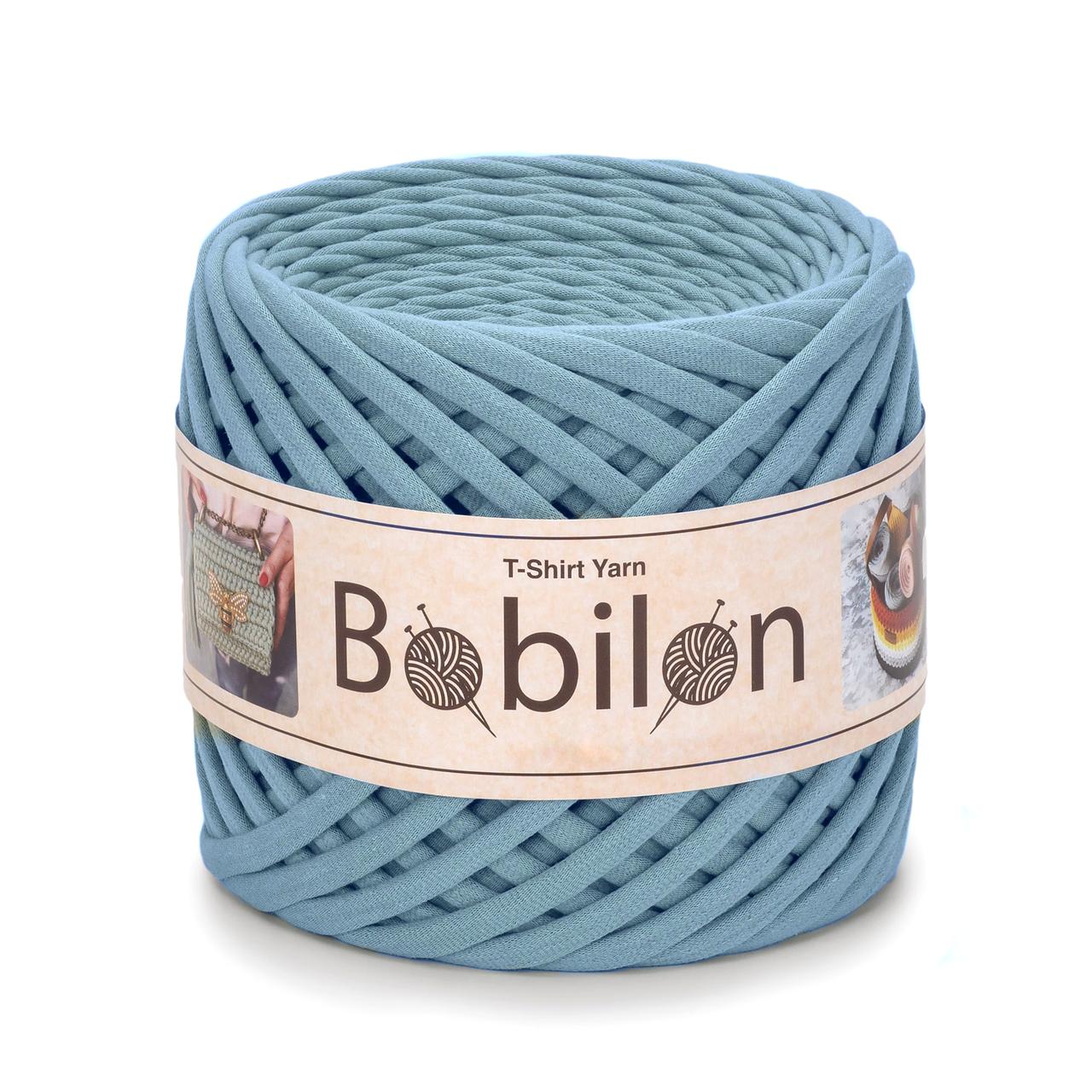 Трикотажная пряжа Bobilon Mini (5-7 мм) Smoky Дымка