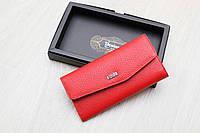 Женский тонкий кожаный кошелек красный Desisan Турция, фото 1