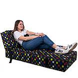 Безкаркасне крісло розкладне ліжко Принт поролон TIA-SPORT, фото 4