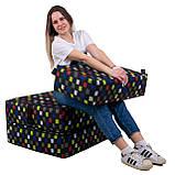 Безкаркасне крісло розкладне ліжко Принт поролон TIA-SPORT, фото 5