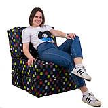 Безкаркасне крісло розкладне ліжко Принт поролон TIA-SPORT, фото 8