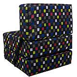 Безкаркасне крісло розкладне ліжко Принт поролон TIA-SPORT, фото 9