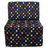 Безкаркасне крісло розкладне ліжко Принт поролон TIA-SPORT, фото 10