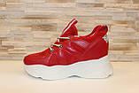 Кроссовки женские красные Т1187, фото 2