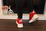 Кроссовки женские красные Т1187, фото 3