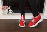 Кроссовки женские красные Т1187, фото 5