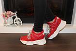 Кроссовки женские красные Т1187, фото 6
