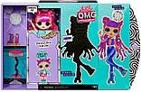 LOL Surprise OMG Series 3 - Roller Chick Fashion Doll  Кукла ЛОЛ ОМГ Диско Скейтер, фото 6