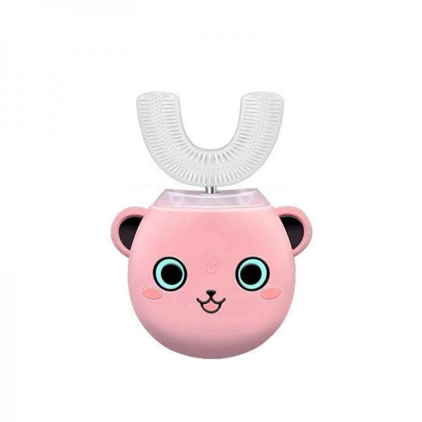 Умная Ультразвуковая Электрическая Зубная Щетка Капа с Автоматической Стерилизацией BeWhite Детская Розовая