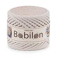 Трикотажная пряжа Бобилон Micro (3-5 мм) Ivory Айвори