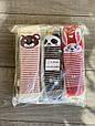 Колготи махрові KBS дитячі з малюнком звірят для дівчаток 0 років мікс із  кольорів, фото 4