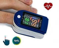 Пульсоксиметр LK87, пульсометр для вимірювання кисню в крові на палець (кольоровий екран) | пульсоксіметр GP